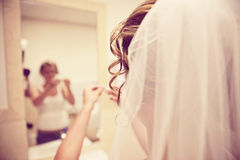 Bride getting ready Royalty Free Stock Photos