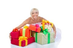 Bride with gifts Stock Photo