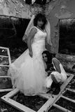 Bride and girl Royalty Free Stock Image