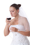 Bride giving a toast Stock Image