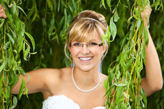 Bride with glasses - eyeglasses Royalty Free Stock Photography