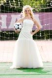 Bride goalkeeper Royalty Free Stock Images