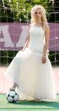 Bride goalkeeper Stock Photography
