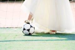 Bride goalkeeper Royalty Free Stock Photo