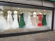 Bride gowns and elegant dresses in Hamburg Stock Photo