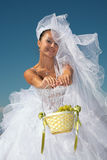 Bride & grapes Royalty Free Stock Photo
