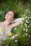 Bride on grass Stock Image