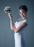 Bride on gray Royalty Free Stock Photos