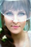 Bride with green eyes Stock Photography