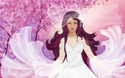 Bride Greeting Card Royalty Free Stock Photography