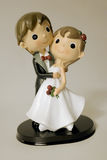 Bride and grom figurines Stock Image