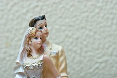 Bride and Groom. Weddingcake figurine Royalty Free Stock Images