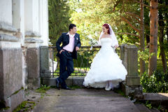 Bride & groom Royalty Free Stock Photography