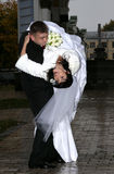 Bride and groom. Couple outdoor royalty free stock photography