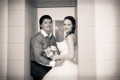 Bride and groom Royalty Free Stock Photography