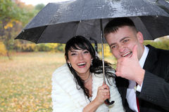 Bride and groom. Couple outdoor royalty free stock photo