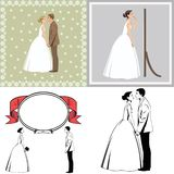 Beautiful newlywed couple royalty free stock images