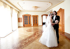 Bride and groom. Couple indoor royalty free stock photography