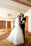 Bride and groom. Couple indoor royalty free stock photos