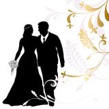 Bride and groom. Silhouette concept Stock Photography
