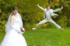 Bride and groom. Royalty Free Stock Photography