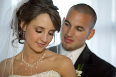 Bride and Groom. Horizontal image of a bride and groom royalty free stock image
