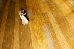 The bride and groom. View from the top Royalty Free Stock Photography