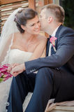 Bride and Groom. On wedding day royalty free stock photography