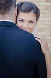 Bride and Groom. Young couple on wedding day royalty free stock photography