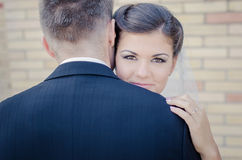 Bride and Groom. Young couple on wedding day stock image