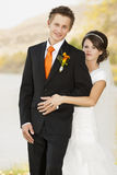 Bride and groom Stock Image