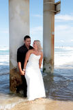 Bride and Groom 6. Bride and groom on the beach Stock Photography