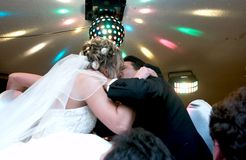 Bride and groom. A kiss Stock Photography