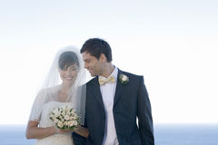 A bride and groom Stock Image