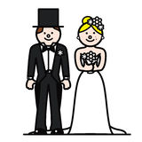 Bride and groom. Couple ready to get married Royalty Free Stock Image