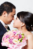 Bride and groom asian is Romantic Stock Photography