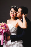 Bride and groom asian is Romantic Stock Images