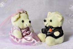 Bride Groom Bear Royalty Free Stock Photo