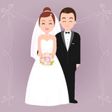 Bride and groom. A beautiful bride and a groom. A newlywed couple Stock Image