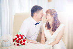 The bride and groom beautiful Royalty Free Stock Photography