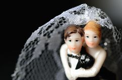 Bride and groom. For black background Royalty Free Stock Image