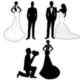 The bride and groom. Royalty Free Stock Photos