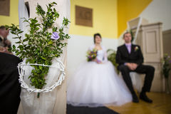 Bride and groom bouquet Royalty Free Stock Photography