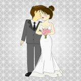 Bride and groom. Cartoon vector Stock Photo
