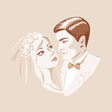 The bride and groom.cdr Royalty Free Stock Image