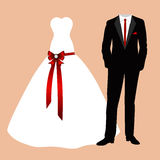 The bride and groom clothes. Royalty Free Stock Image