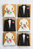 Bride and groom cookies Royalty Free Stock Photography