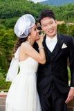 Bride and groom couple wedding love Stock Photo