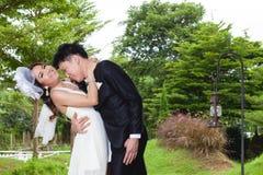Bride and groom couple wedding love Stock Photos