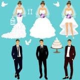 Bride and groom. Couple. Wedding set. Stock Photo